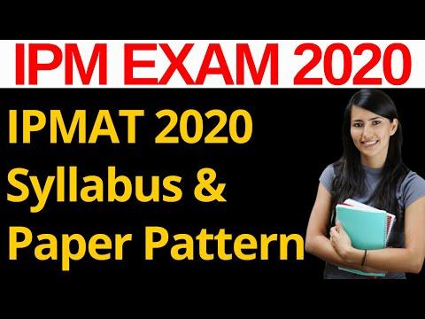 IPM IIM Indore 2020 - Full Syllabus & Paper Pattern