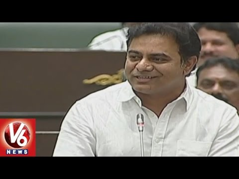 Minister KTR Funny Comments On Jana Reddy | Mission Bhagiratha | TS Assembly | V6 News