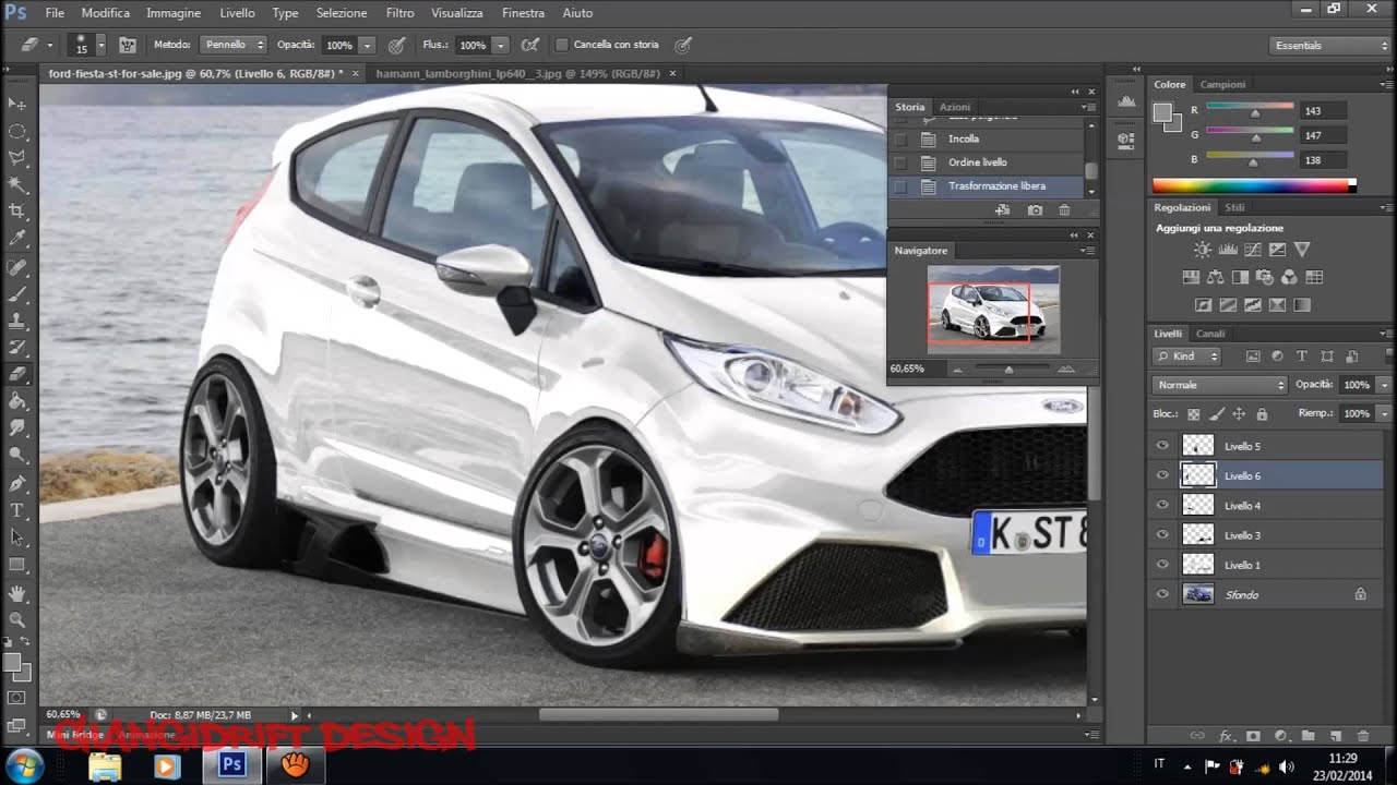 ford fiesta st 2013 front virtual tuning photoshop youtube. Black Bedroom Furniture Sets. Home Design Ideas