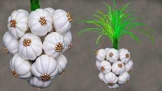 Unique Cotton Craft // Garlic make with Cotton (Best Out Of Waste)