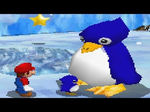 Super Mario 64 DS 100% Walkthrough Part 4 - Cool Cool Mountain + Bowser in the Dark World