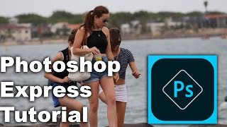 Adobe Photoshop Express Tutorial on IPhone ( Picture Editing )