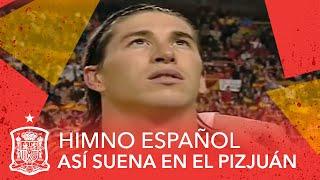 Así suena el himno español con la Selección en Sevilla