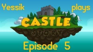 Let's Play Castle Story (part 5) Building A Wooden Skeleton With Lazy Bricktrons
