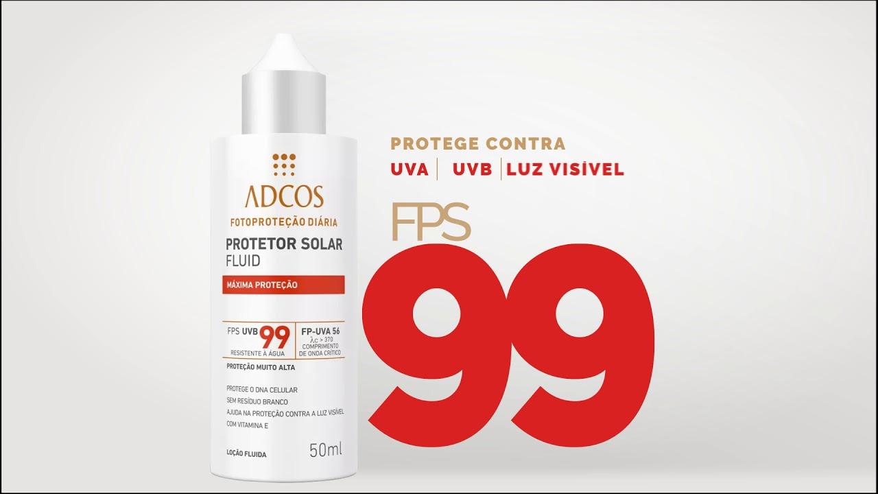 ADCOS - Filtro Solar Fluid FPS 99 Máxima proteção - YouTube 5609cc6919