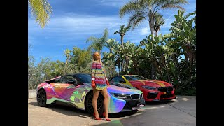 Paris Hilton's Rainbow Mobile