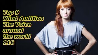 Top 9 Blind Audition (The Voice around the world 116)
