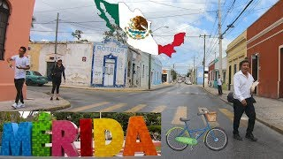 Bicycle Ride Around El Centro of Merida Mexico - Living in Merida Mexico -  Calle 47 y 49