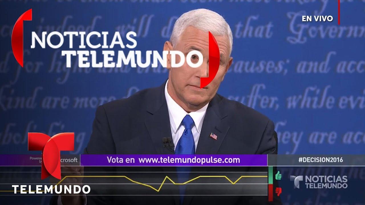 Pence y Kaine se enfrentan sobre economía | Noticias | Noticias Telemundo