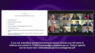 March 17, 2021 Delaware County Council Public Meeting