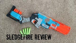 Nerf ZombieStrike SledgeFire Unboxing & Firing Test
