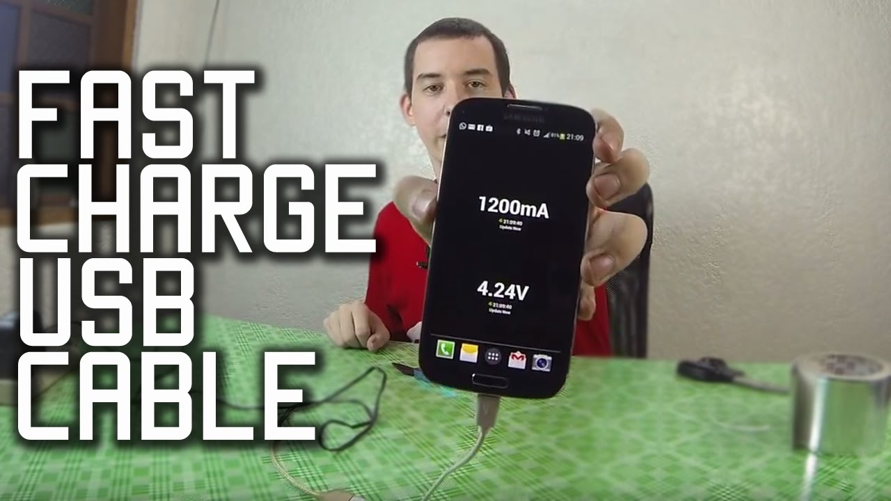 Make A Fast Charge Usb Cable Youtube Android Schematic