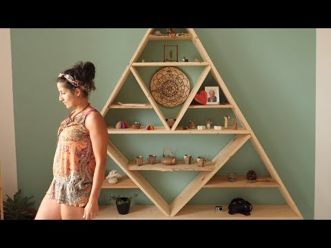 Making a Wooden Triangular Shelf