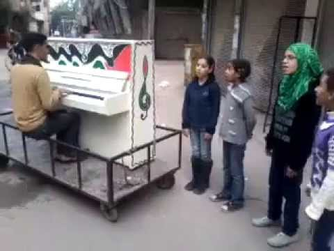 Kids Singing in Yarmouk Camp, Damascus, Syria