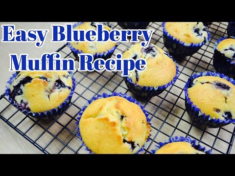 Easy Blueberry Muffin Recipe // How To Make Blueberry Muffins