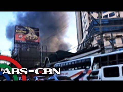 TV Patrol: Parking building ng Araneta Center, nasunog