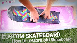 Restoring old skateboards! | How to Hydrodip