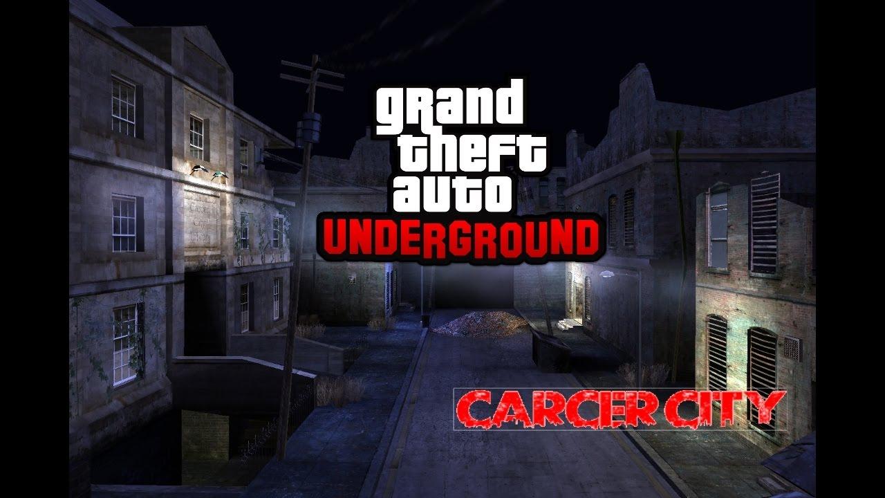 Gta San Andreas Underground Mod Carcer City Manhunt Youtube