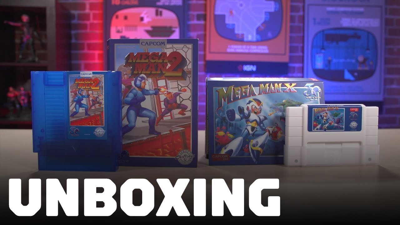 Unboxing Mega Man's Gorgeous Retro 30th Anniversary Cartridges