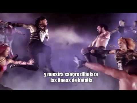 "WWE Battleground 2016 theme song ""this is a war"" letra en español"