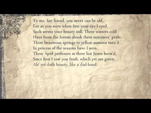 Sonnet 104: To me, fair friend, you never can be old