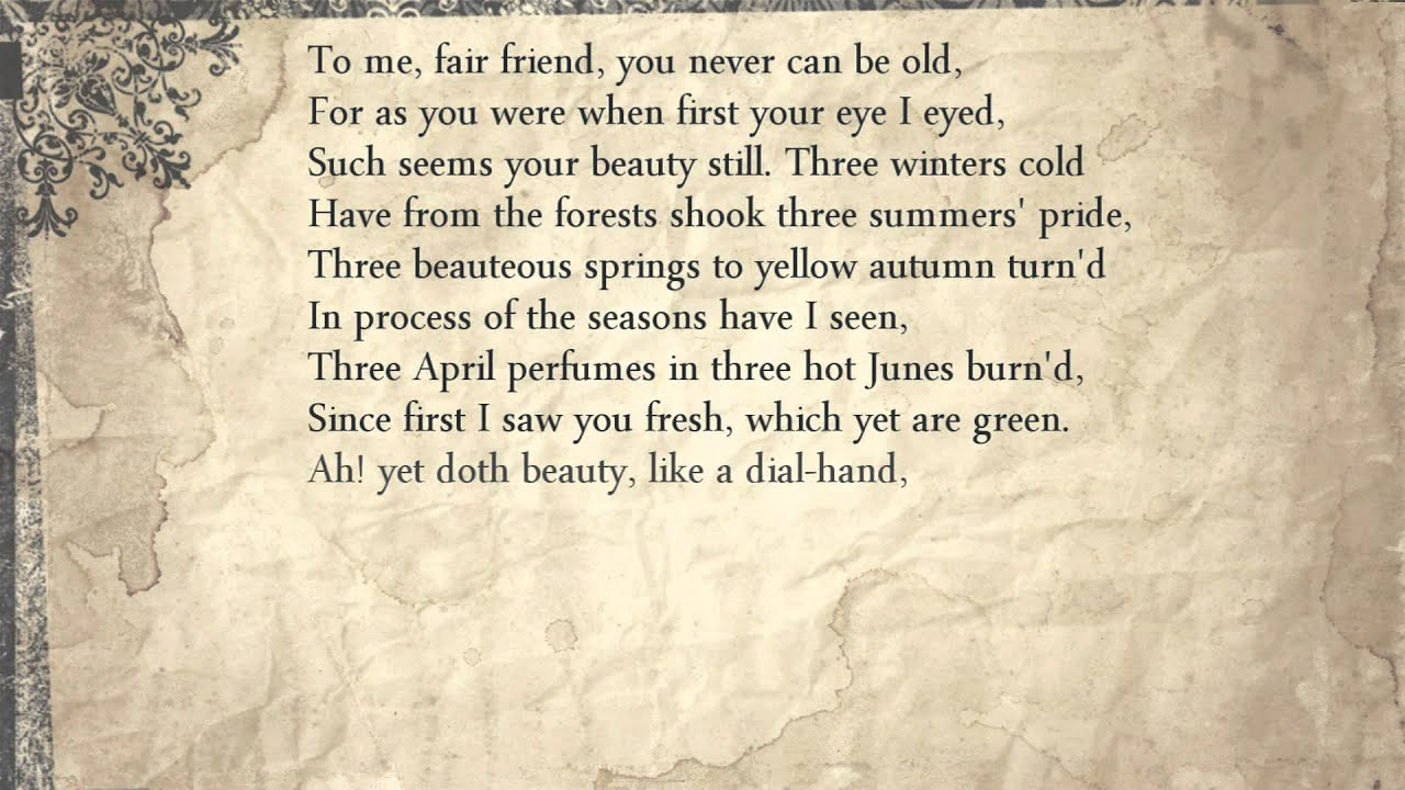 shakespeare sonnet 104 literary devices