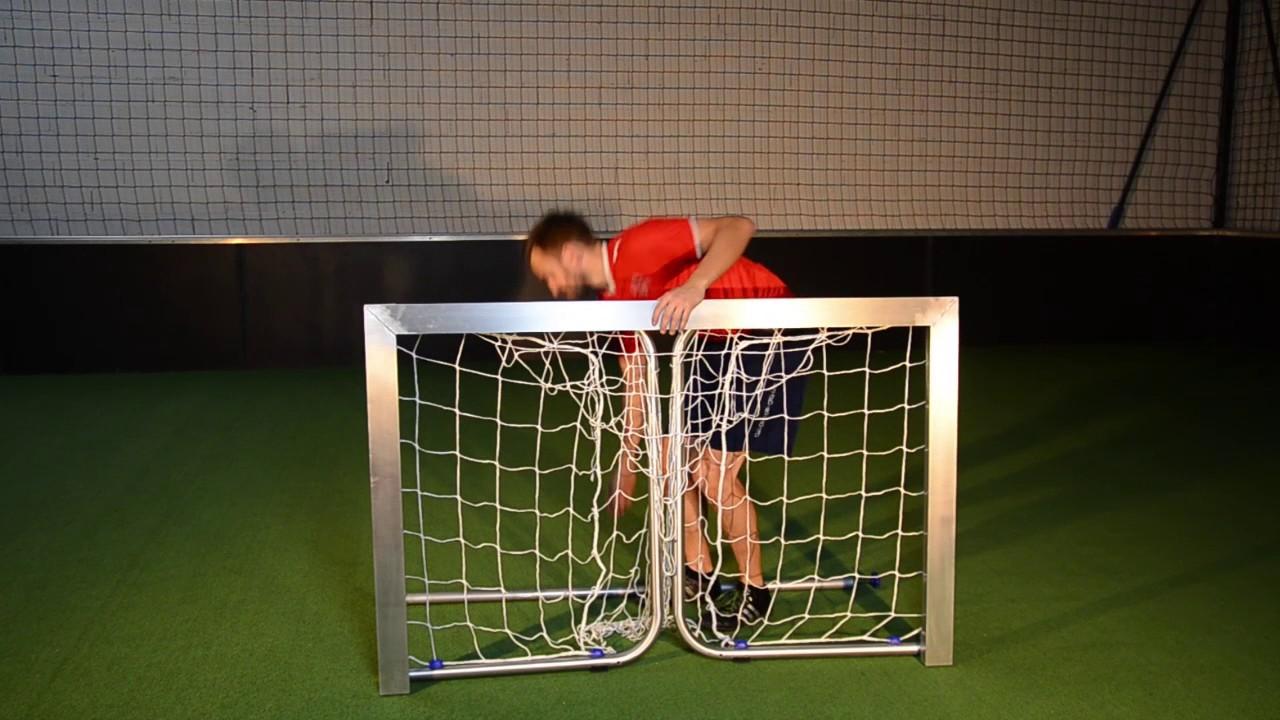 mini aluminium foldable football goal youtube