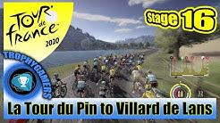 Tour de France 2020 - La Tour du Pin to Villard de Lans - Stage 16 Gameplay Video PS4 Pro