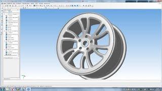 Компас 3D уроки - автомобильный диск