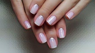 Смешиваем цвета Shellac - Маникюр NUDE + френч + лунный (видео уроки дизайна ногтей)