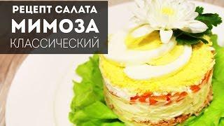 Салат Мимоза классический рецепт пошагово в домашних условиях | Mimosa salad classic recipe