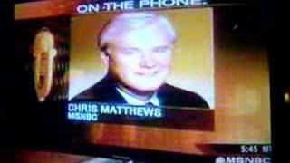 Chris Matthews F**ks-up on Imus show