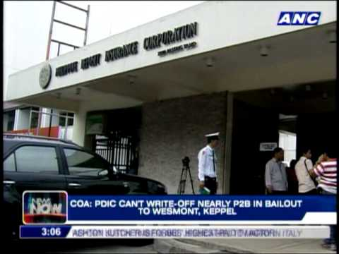 COA: PDIC can't write-off P2B bailout to Westmont, Keppel