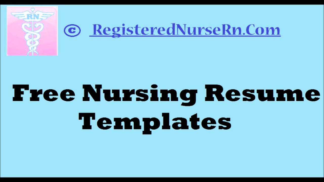 Resume Nursing Student Resume Template Word nursing resume templates free for nurses how to create a rn