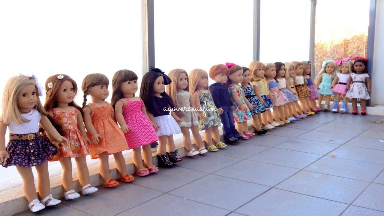 All My American Girl Dolls Summer 2014 Youtube