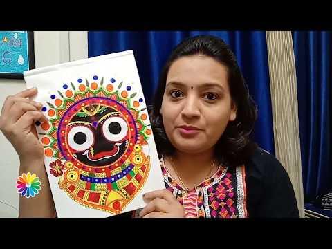 Pattachitra painting tutorial with artist Trivenika