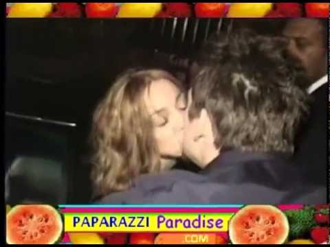 MADONNA and MARK McGRATH kiss & flirt outside party
