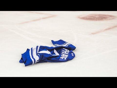NHL Jerseys Thrown on Ice