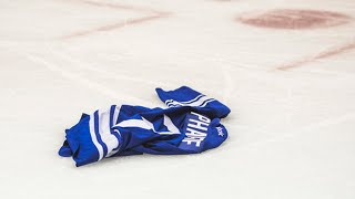 NHL Jerseys Thrown on Ice