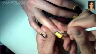 Дизайн ногтей гель лак   Обратный френч, французский маникюр(, 2015-03-08T10:24:38.000Z)