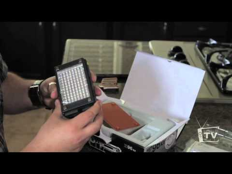 Z96 LED Light Panel Unboxing and Review - Canon Camera Digital EOS 5d,7d,t1i,t2i,t3i,60d