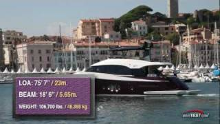 Monte Carlo Yachts 76 Test 2012- By BoatTest.com