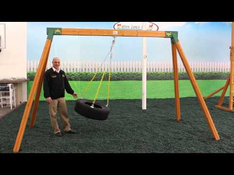 Wooden A-Frame Swing Sets