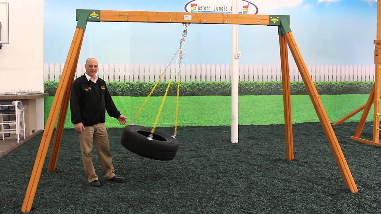 Wooden A Frame Swing Sets   YouTube