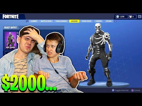 LITTLE BROTHER BUYS NEW SKULL TROOPER V2 SKIN For $2000... Scammed...