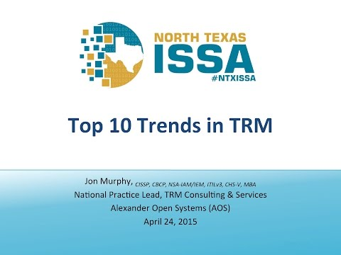 Top Ten Trends for 2015 in Information Security Risk Management