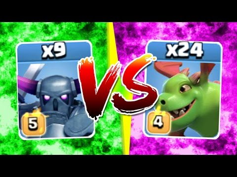 Clash Of Clans - THIS WAS UNEXPECTED! - PEKKA + BABY DRAGON ARMY!