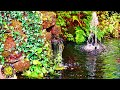Fish Pond Water Fountain & Running Water Sounds - Relaxation, Meditation, Sleep - 4K