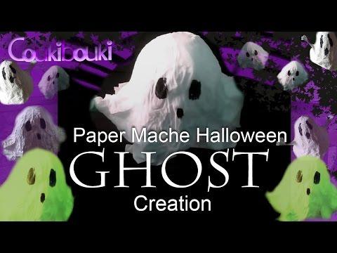 DIY Halloween decorations -  Paper Mache GHOST Crafts Tutorial