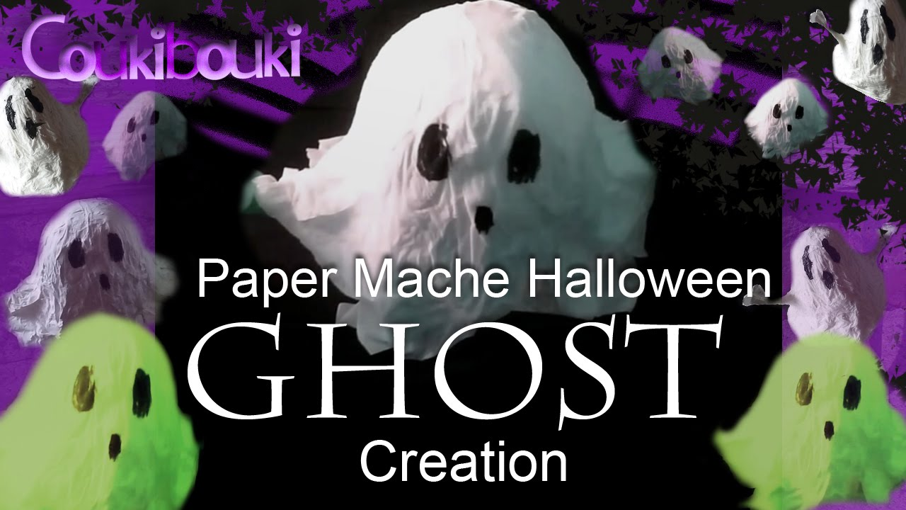 diy halloween decorations paper mache ghost crafts tutorial youtube